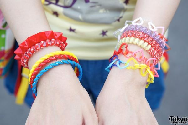 Colorful Plastic Decora Bracelets