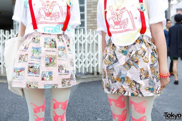 Comics Print Skirts