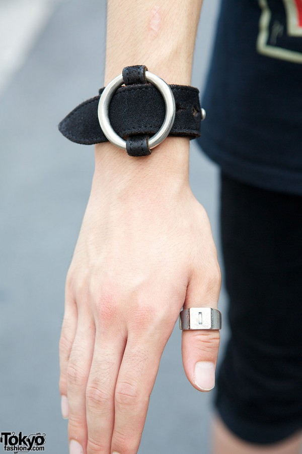 leather cuff & ring