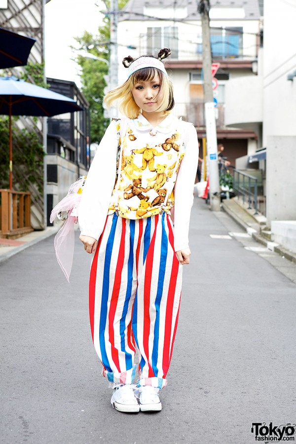 Two Tone Hairstyle, Kawaii Teddy Bears & Resale Fashion in Harajuku