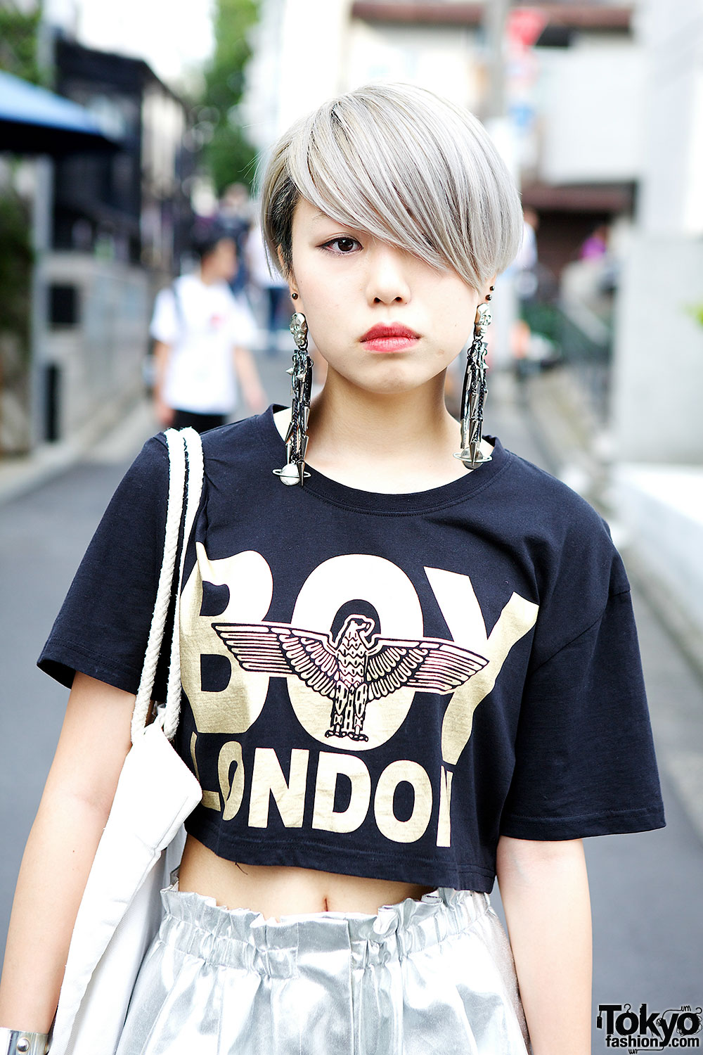 Boy London Crop Top Myob Earrings Choco Moo X Joyrich Tote Bag