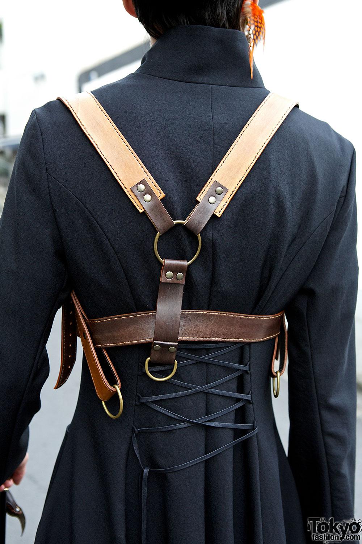 Leather Steampunk Harness Tokyo Fashion News