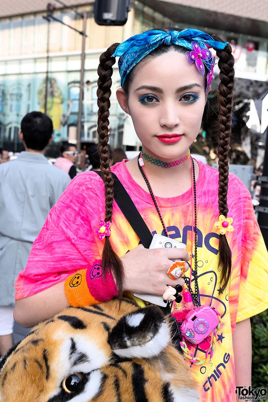 Cute Braids Amp Tie Dye Tokyo Fashion News