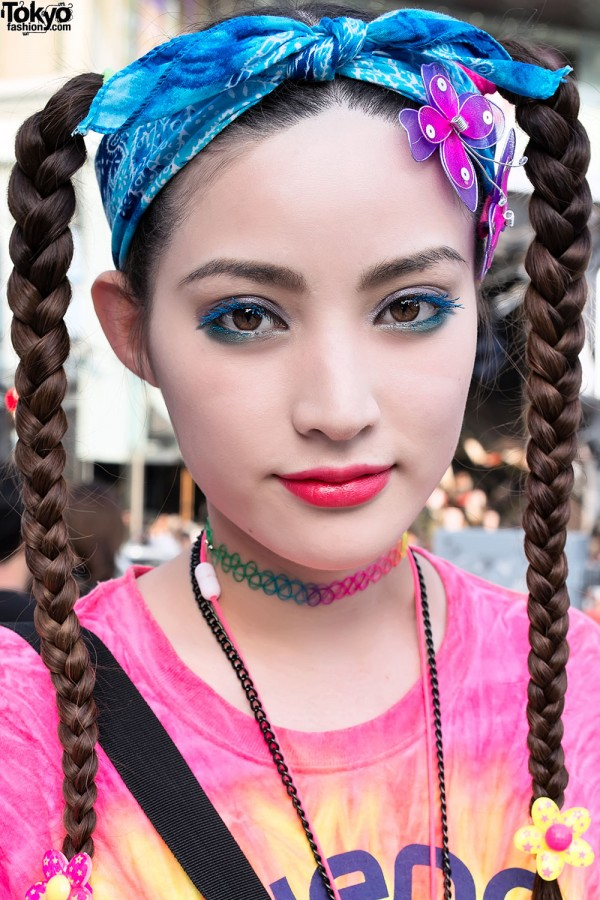 Braids Hairstyle & Butterfly Hair Clips