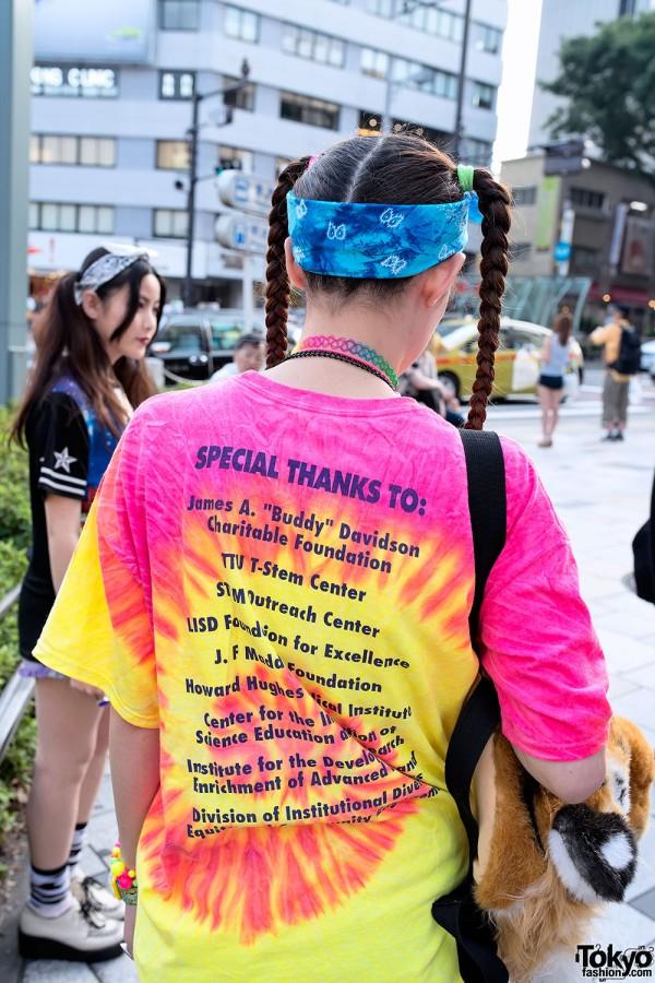 Tie Dye & Rainbow Tattoo Necklace
