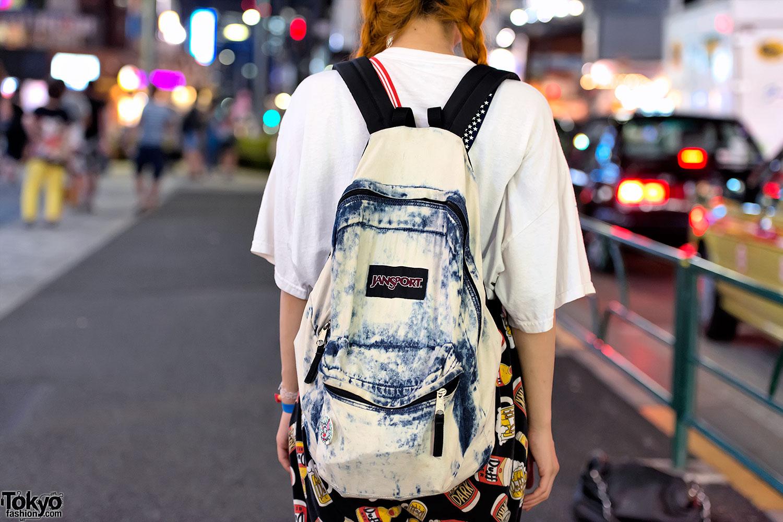 Acid Wash Jansport Backpack Tokyo Fashion News
