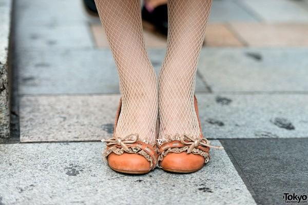 Net Tights & Ballet Flats in Tokyo