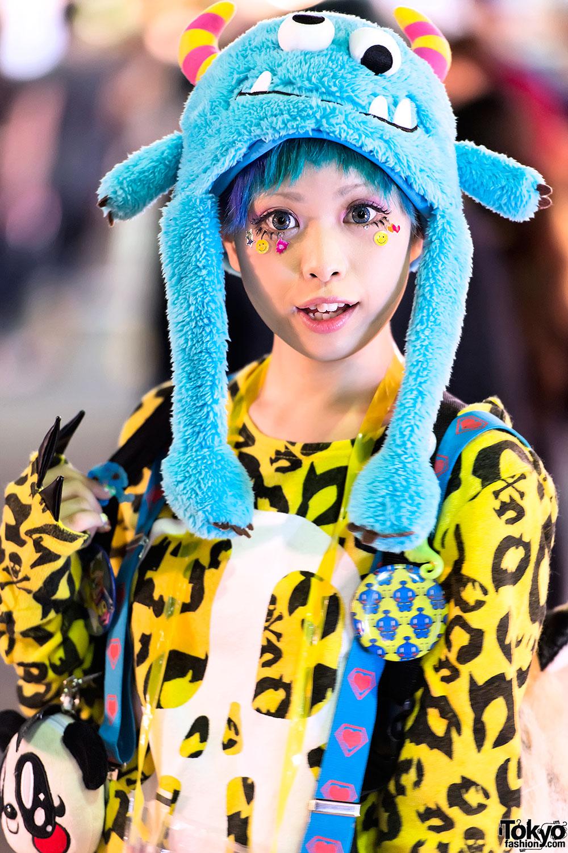 Haruka Kurebayashi w/ Super Lovers & Monster Hat in Harajuku