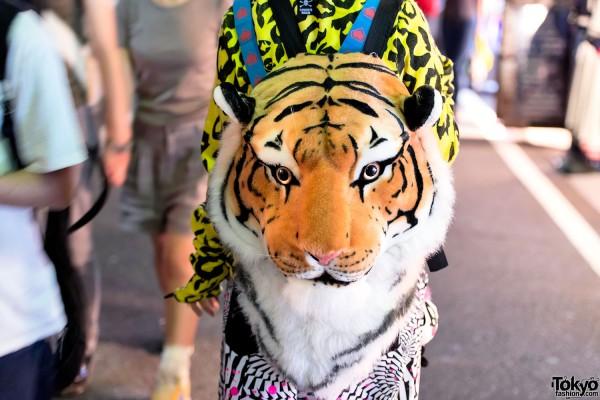 Tiger Head Backpack in Harajuku