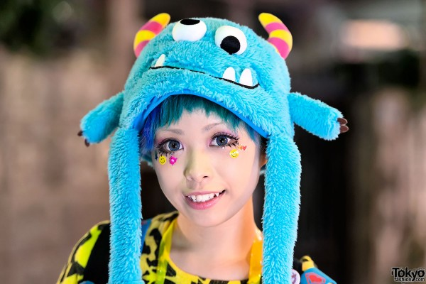 Kawaii Monster Hat in Harajuku