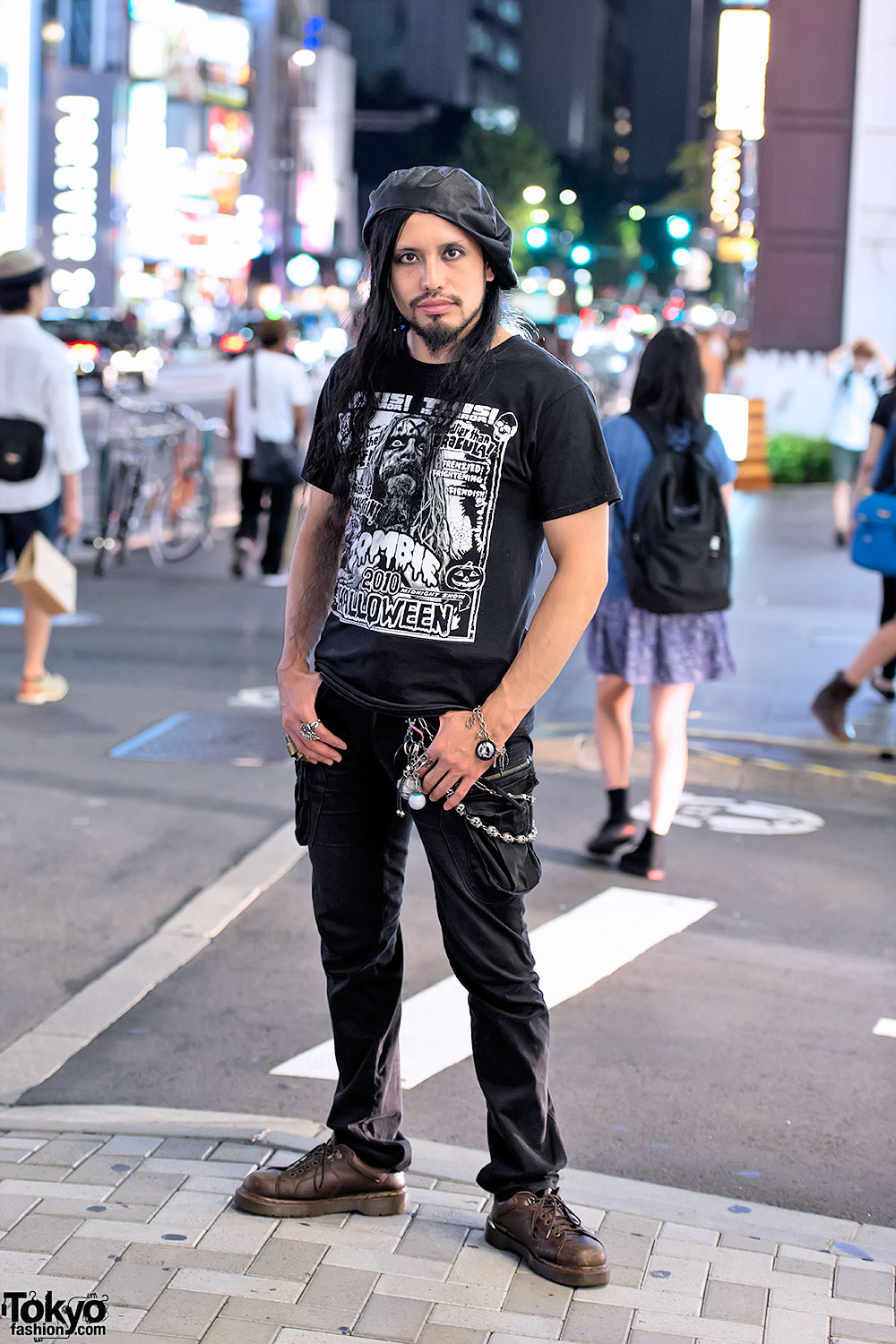 Long Haired Japanese Guy x Rob Zombie T-shirt