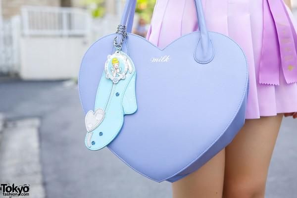 Milk Heart Shaped Handbag & Charm