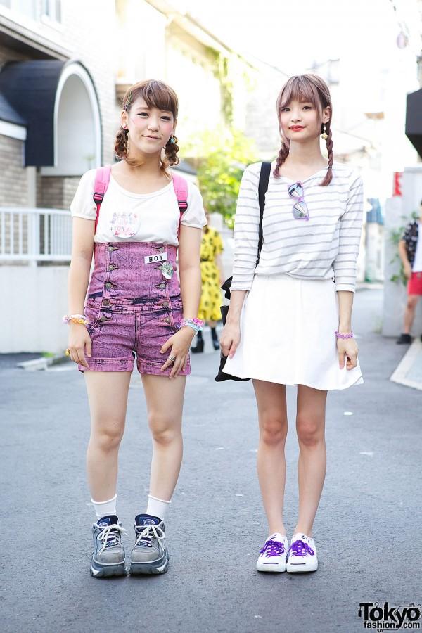 Harajuku Girls in Braids w/ Nadia Skirt, Lego Backpack & Barbie