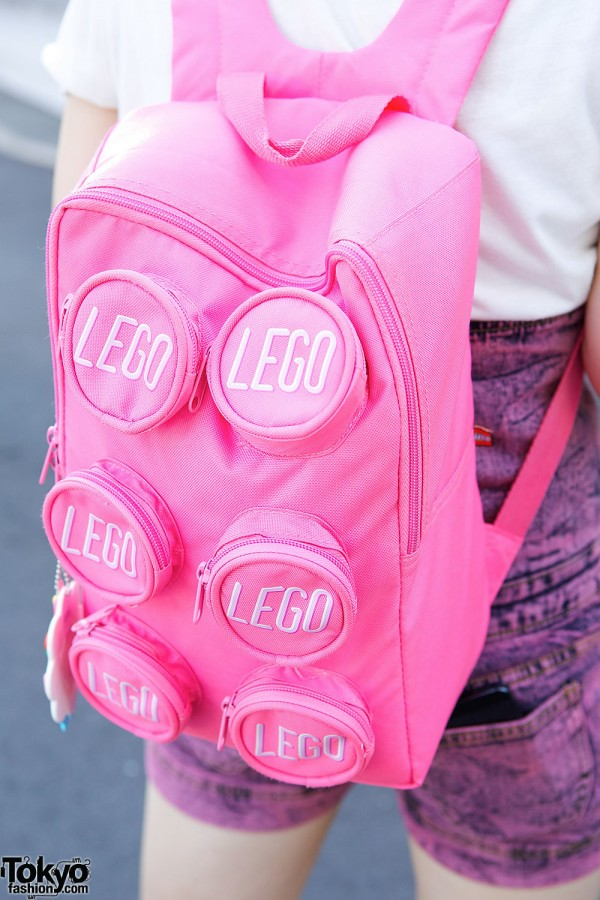 harajuku girls in braids w nadia skirt lego backpack