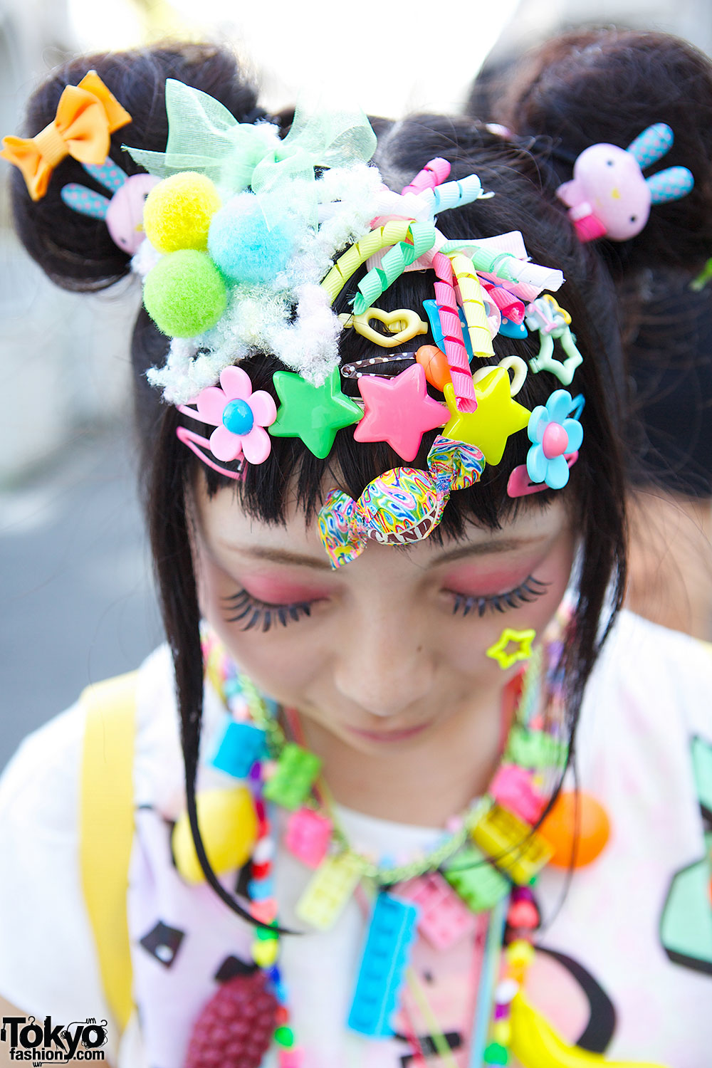 Kawaii Harajuku Decora Fashion w/ Hair Clips, Pinwheel & 6 ...