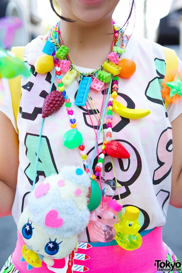 Lego & Fruits Necklace