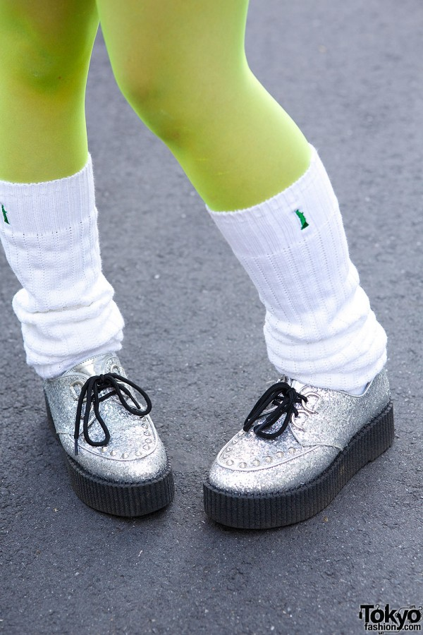 Leg Warmers & Creepers in Harajuku