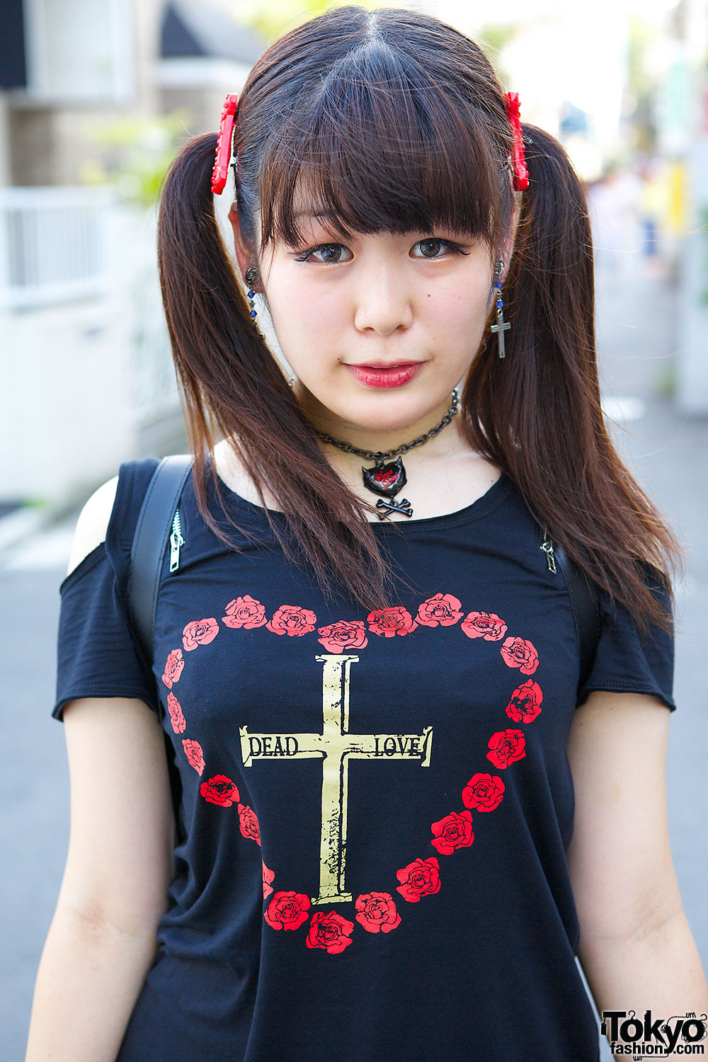 Harajuku Girl S Hellcatpunks Casket Backpack Twintails