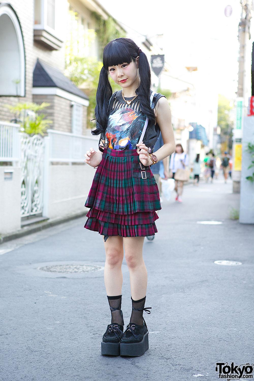 Zz Top Sleeveless Kawi Jamele Suspender Skirt Nadia Harajuku