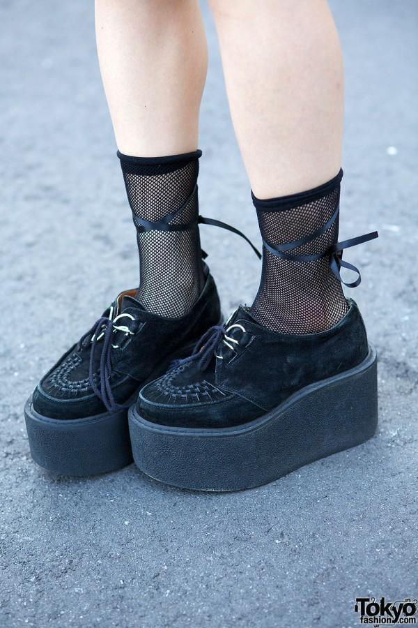 Nadia Harajuku Creepers & Fishnet Socks