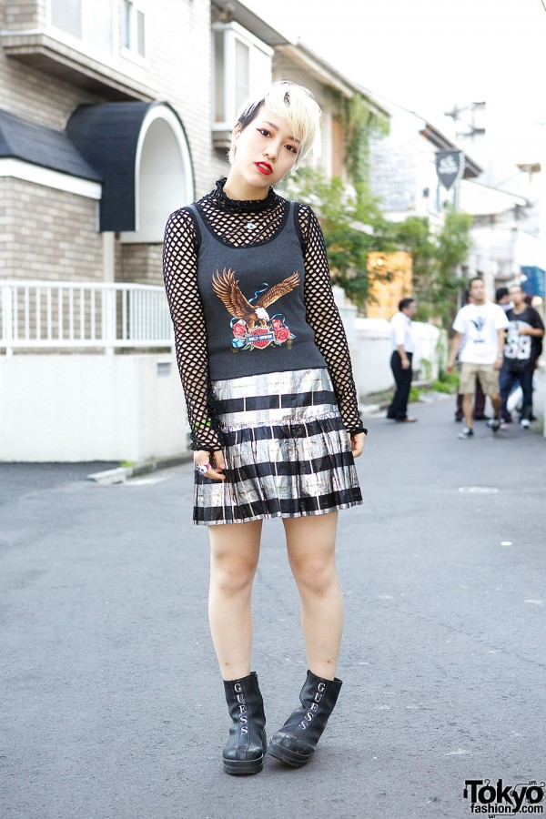 Harley Davidson & Bubbles Harajuku Fashion