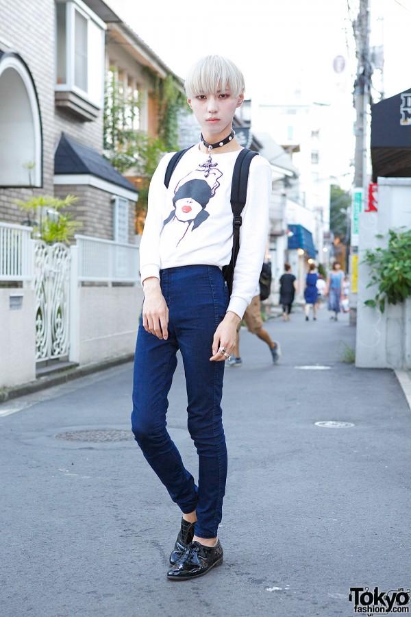 Devil in Harajuku w/ G.V.G.V. Sweatshirt, Skinny Jeans & Alice Black