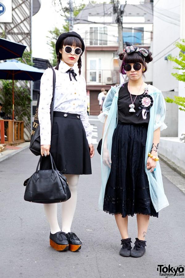 Harajuku Girls in Round Sunglasses