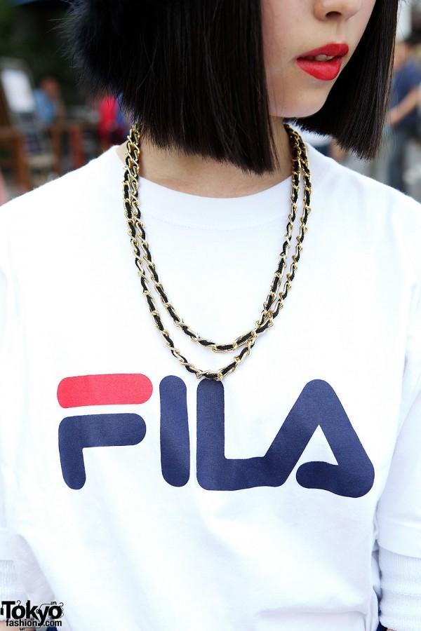 Fila T-Shirt & Necklace