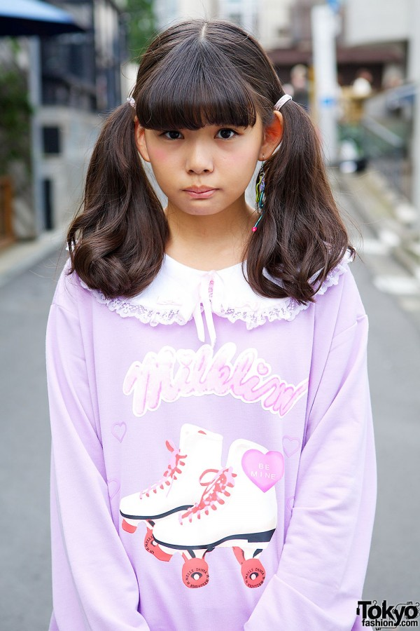 Milklim Sweatshirt with Peter Pan Collar