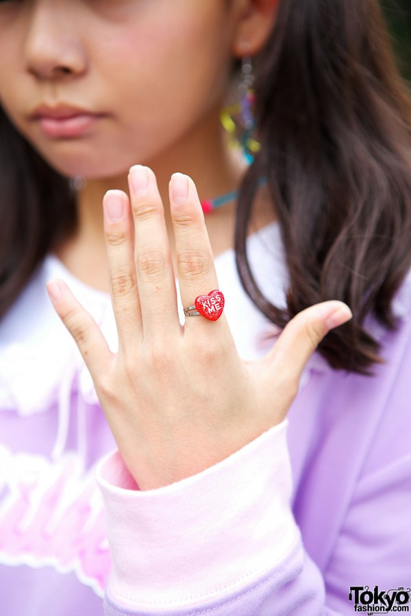 Claire's Kiss Me Ring