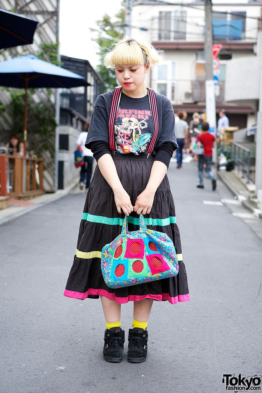 Suspender Skirt in Harajuku