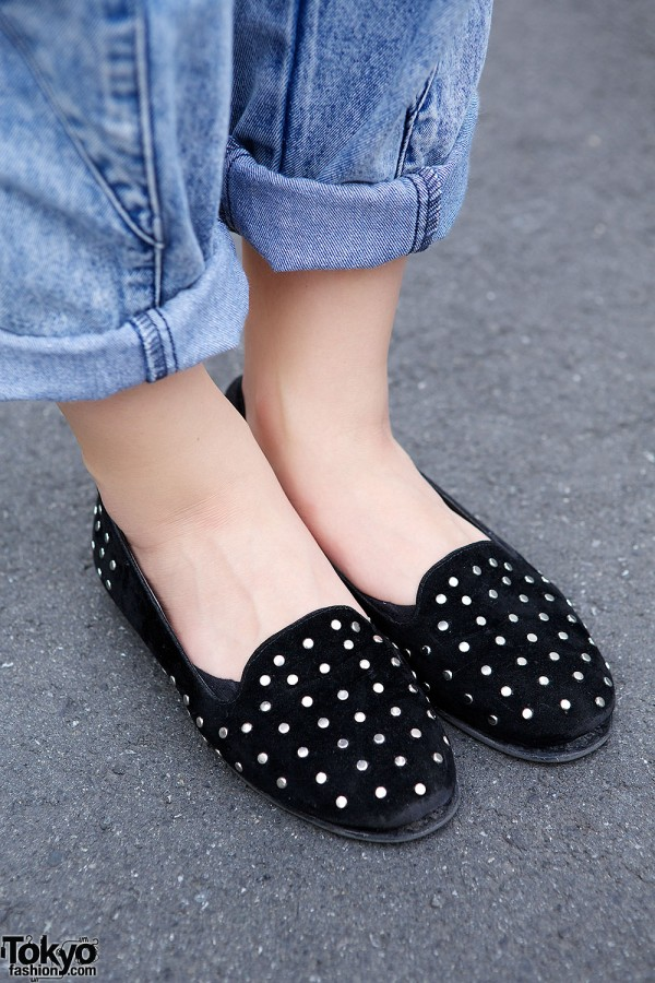 Ezaki Nanaho in Studded Loafers