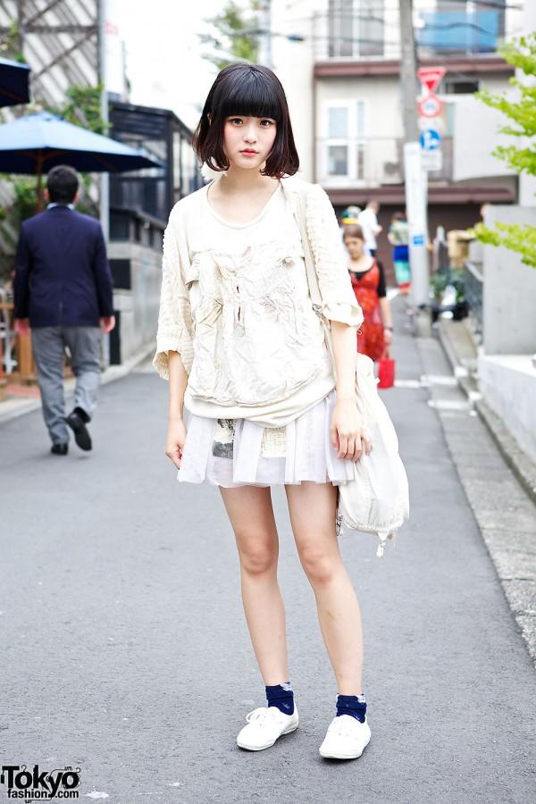 Barrack Room Top & Skirt w/ New York Joe Exchange Bag in Harajuku