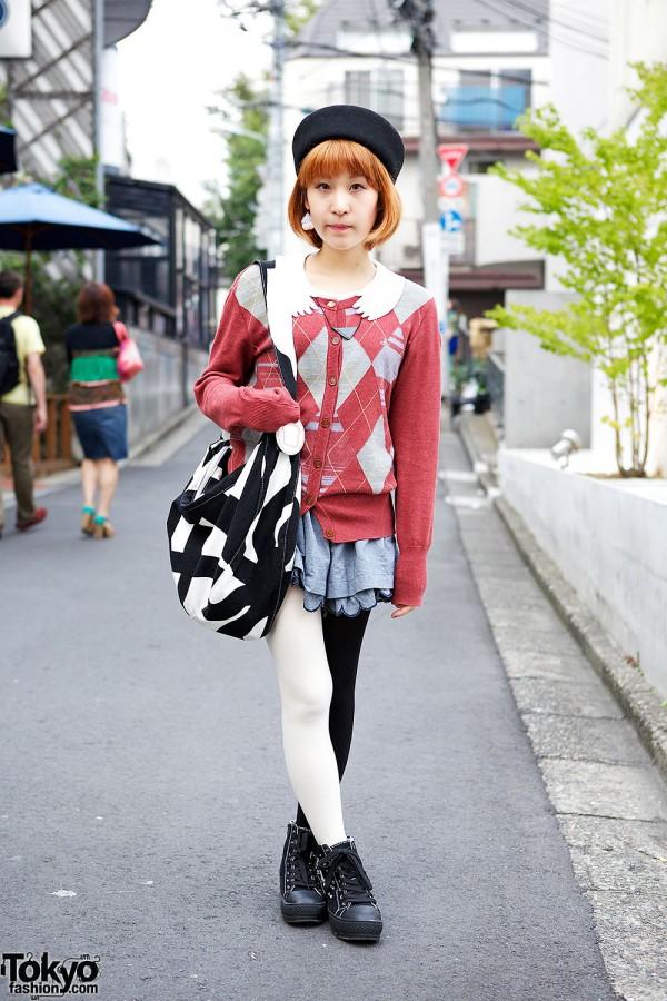 Harajuku Girl in Hat w/ Marimekko, Vivienne Westwood & I Am I