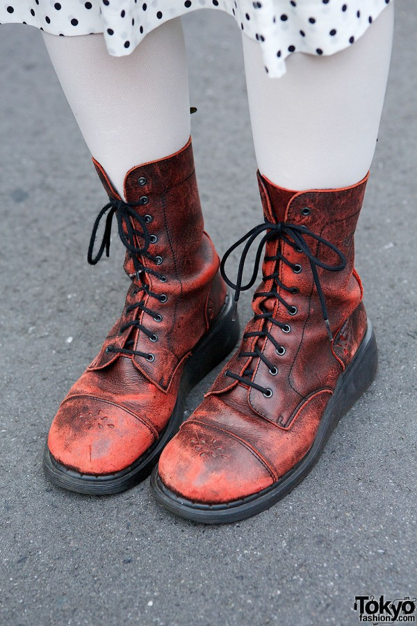 Distressed Dr. Martens Boots