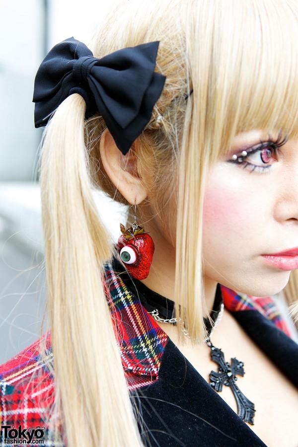 Eyeball Strawberry Earrings