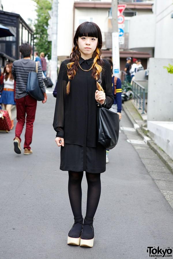 Zara Shirt Dress in Harajuku