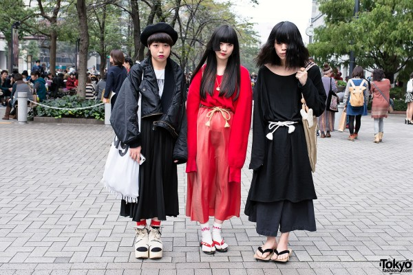 Oversized Fashion & Geta Sandals in Tokyo