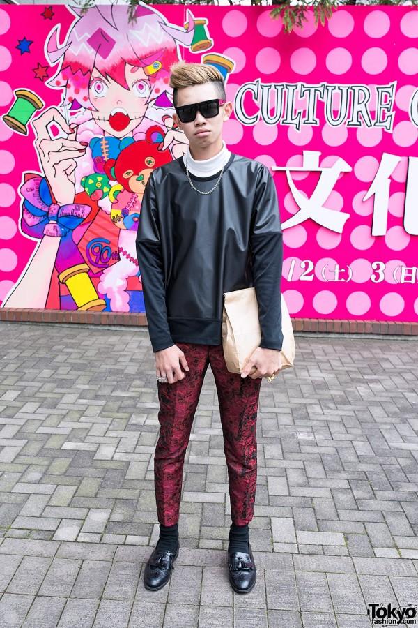"""Issey Miyake Top, Ambush """"POW!"""" Rings & Vintage Fringe Brogues in Tokyo"""