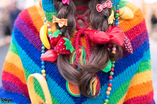 Fruits & Bows Hair Clips