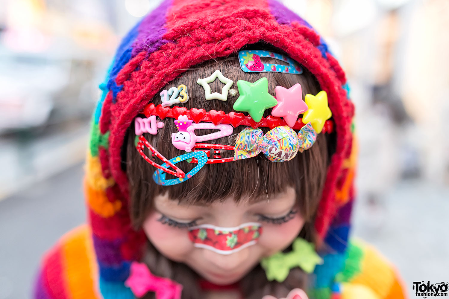 Harajuku Decora W Rainbow Fashion Cute Hair Clips