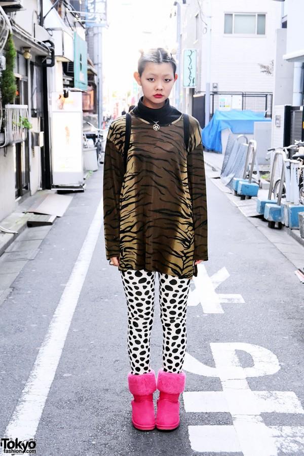 Koenji Street Style w/ Polka Dots
