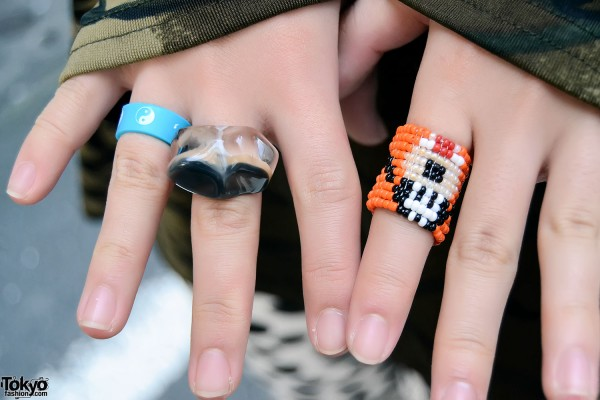Glass & Bead Rings in Koenji