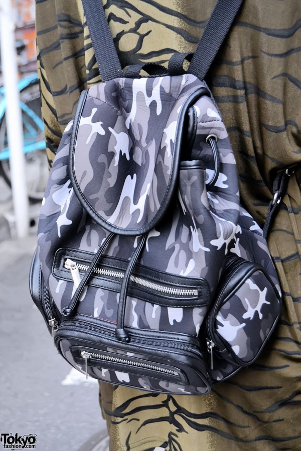 Topshop Camo Backpack