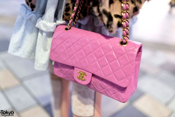 Pink Quilted Chanel Purse
