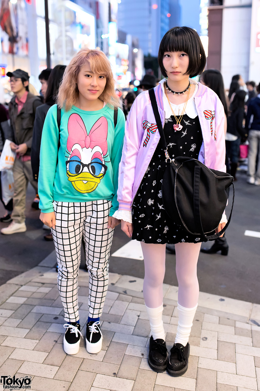 Harajuku High School Girls in Milklim, Spinns, Daisy Duck & WEGO