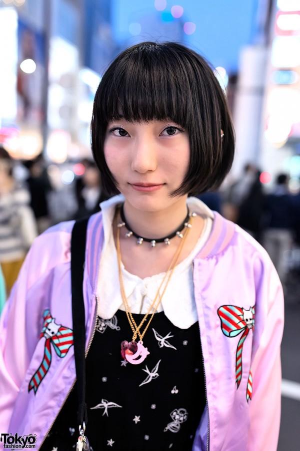 Milklim Jacket & Spike Collar in Harajuku