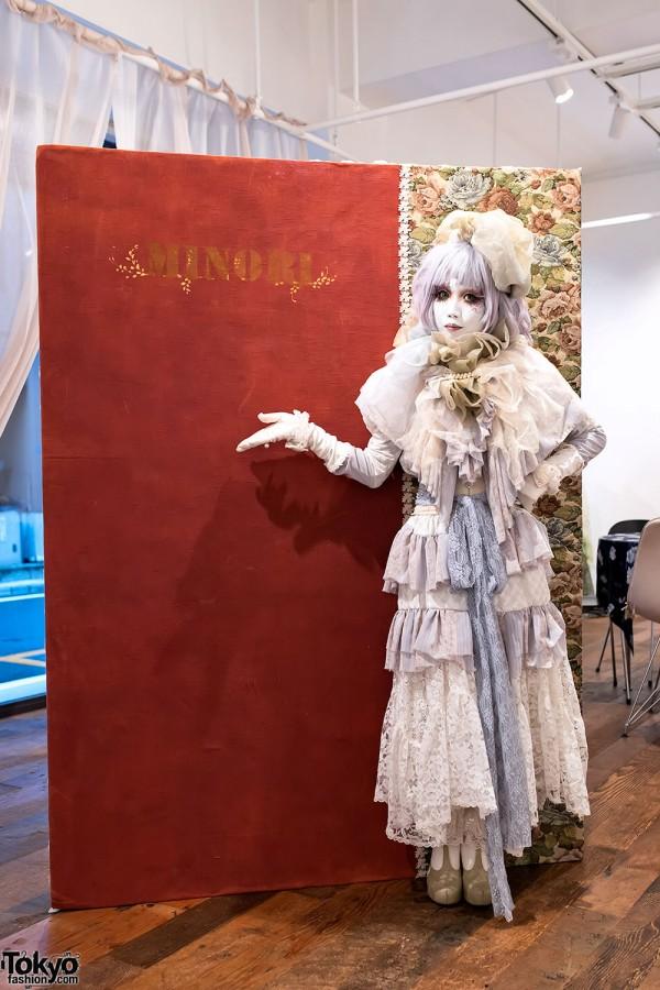 "Shironuri Artist Minori's ""Leblanc Chemistry"" Exhibition in Ginza"