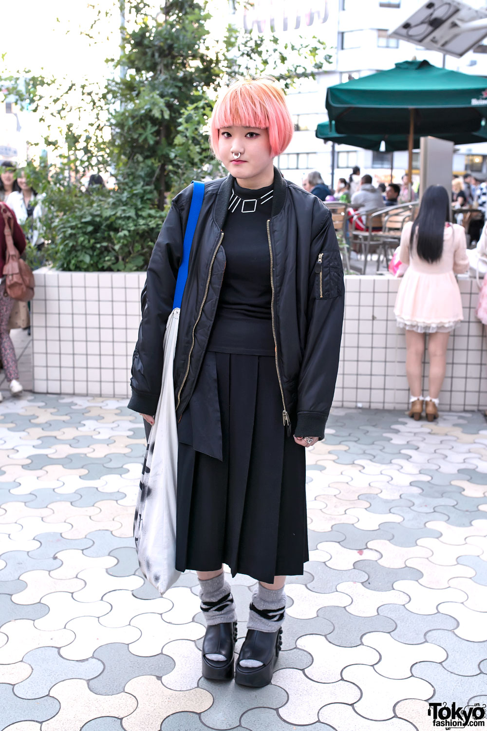 Comme des Garcons Skirt & Pink Hair