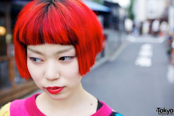 Fire Red Hair in Harajuku